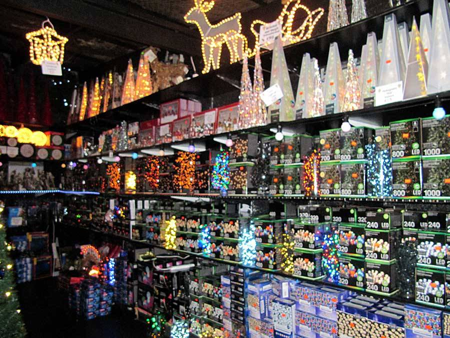 All types and lengths of Christmas Lights