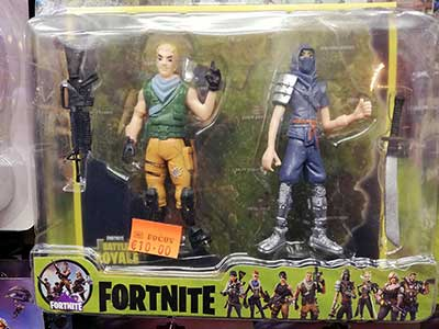 Fortnite figures 2-pack with weapons