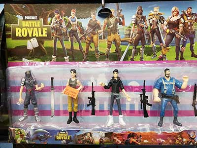 Fortnite 4-pack character figures with weapons
