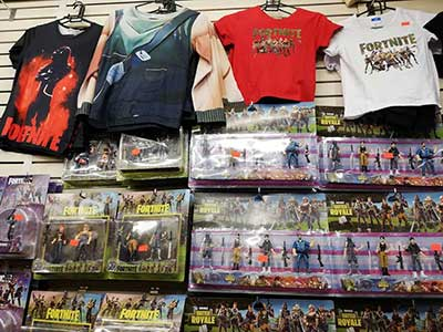 Fortnite character figures and clothing