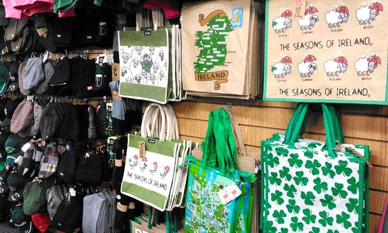 Irish canvas shopping bags