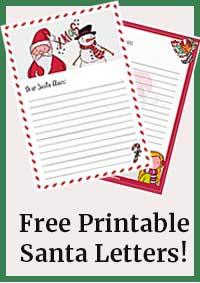 Free printable letters to Santa