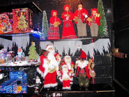 Christmas Santa figures Carol Singers