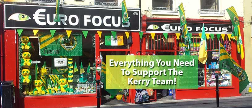 Kerry flags and bunting all sizes sold in Focus Tralee