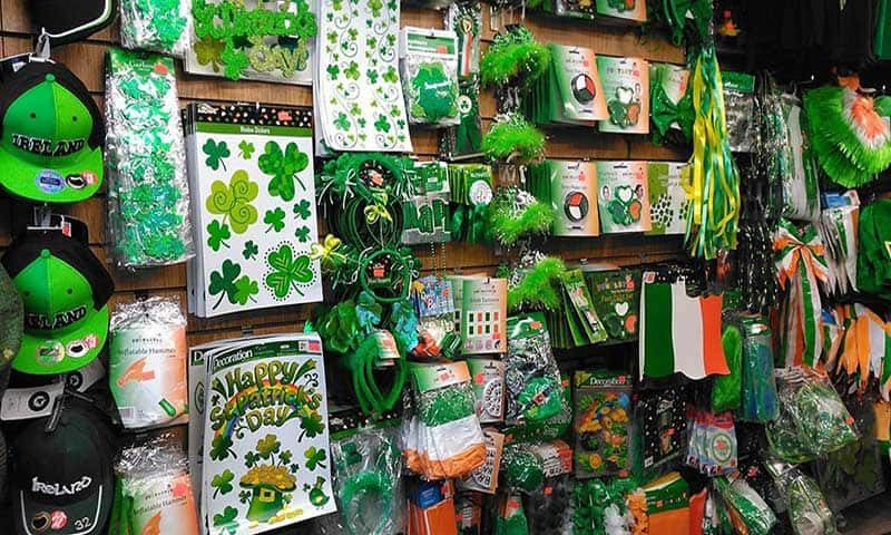 St Patrick's Day accessories and outfits at Focus Tralee